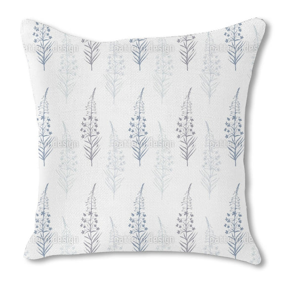 Fireweed flowers Burlap Pillow