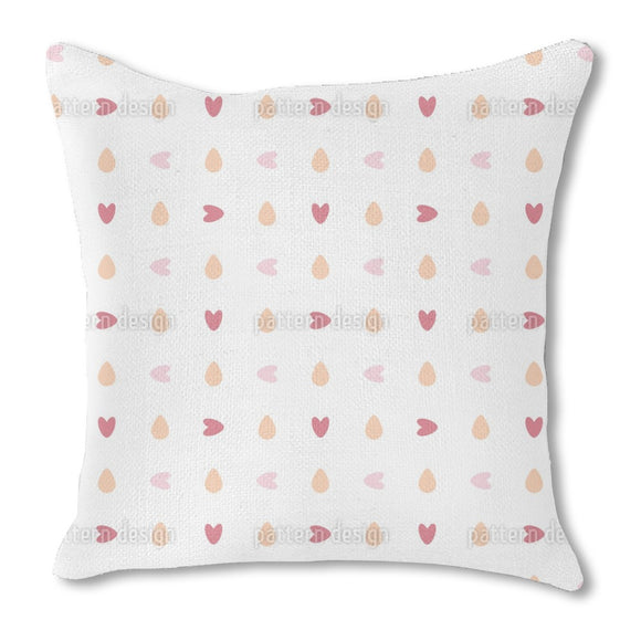 You turn my heart round Burlap Pillow