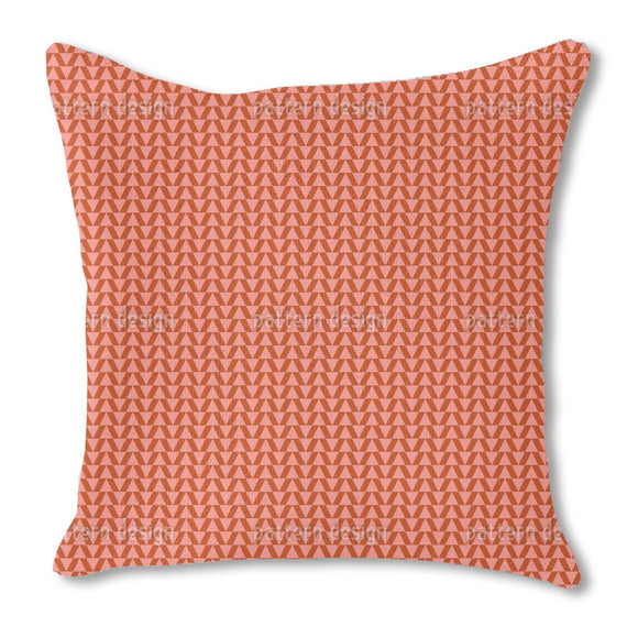 Pointy Waves Burlap Pillow