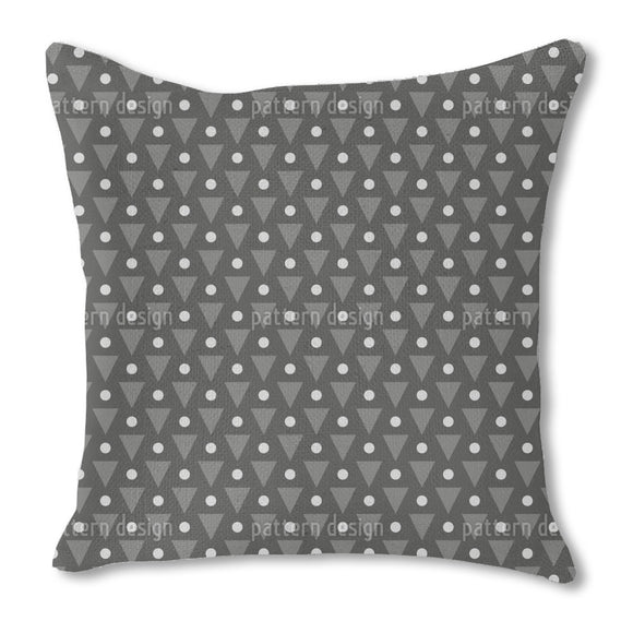 Dots and Triangles Burlap Pillow