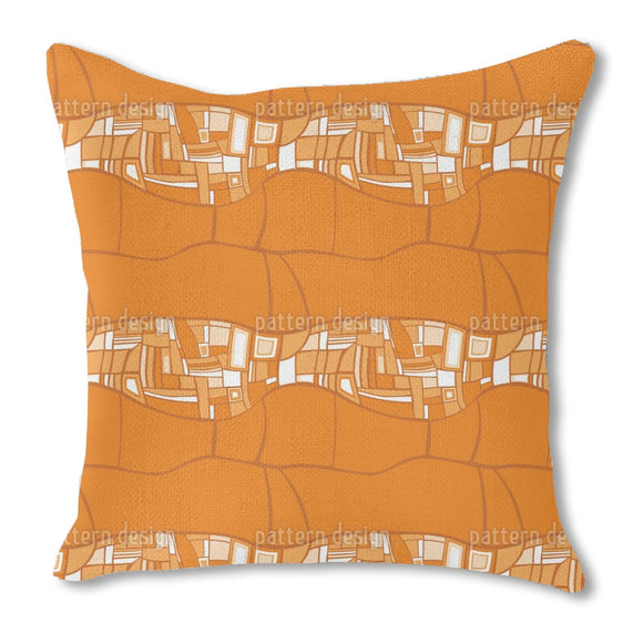 Stilismo Orange Burlap Pillow