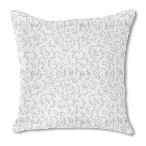 Trigger White Burlap Pillow