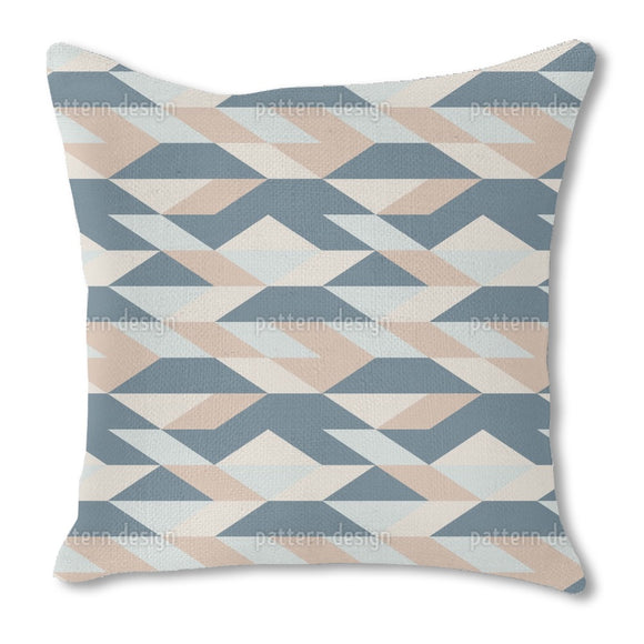 Angular Shaped Lines Burlap Pillow