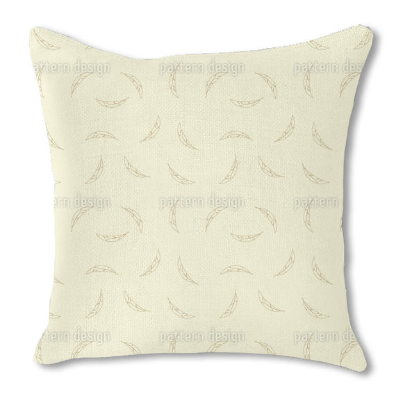 Feathers Falling Burlap Pillow