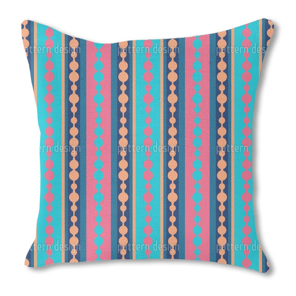 Striped combined with dots Burlap Pillow