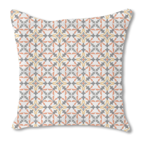 Palm Tile Burlap Pillow
