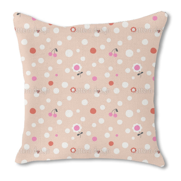Dots And More Burlap Pillow