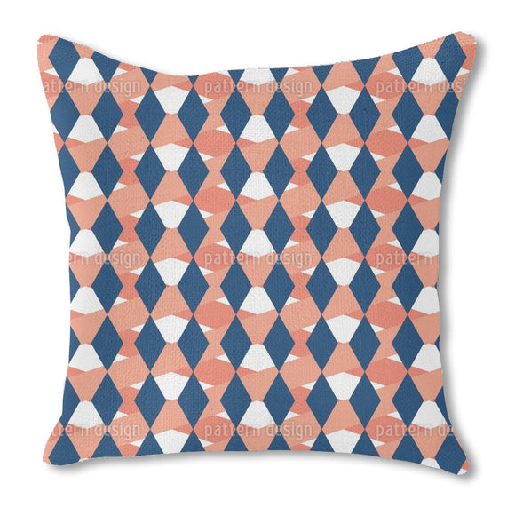 Checkered Window Burlap Pillow