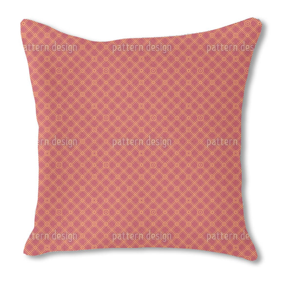 Strict Angled Grid Burlap Pillow
