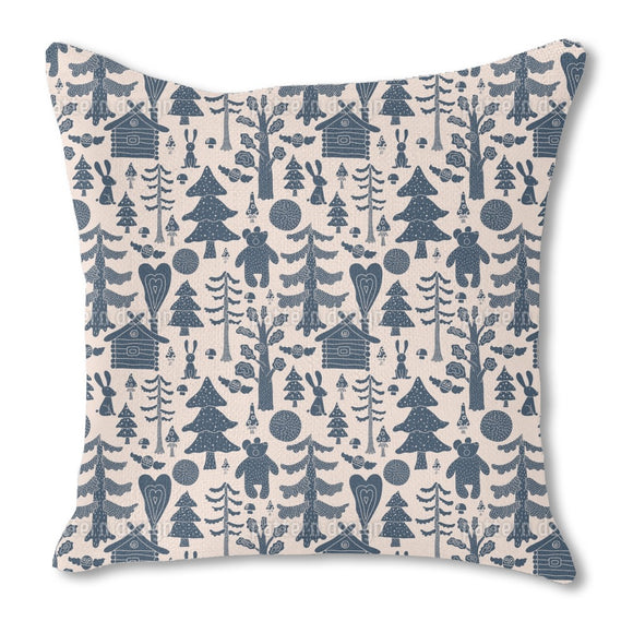 Mystical Fairytale Forest Burlap Pillow