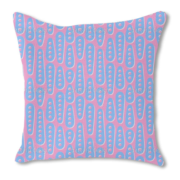 Perforated Shapes Burlap Pillow