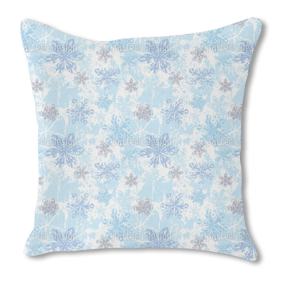 Sibiria Blue Burlap Pillow