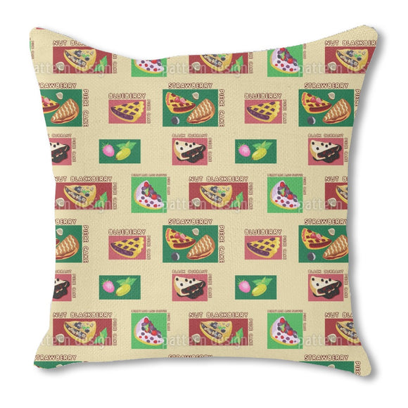 Fruity Pies Burlap Pillow