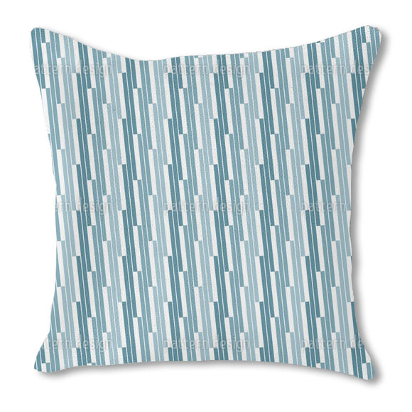 Angular Stripe Burlap Pillow