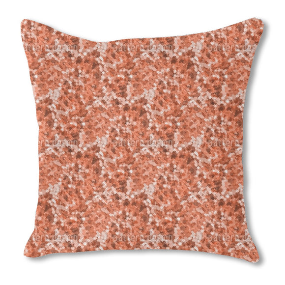 New Geometric Camo Burlap Pillow