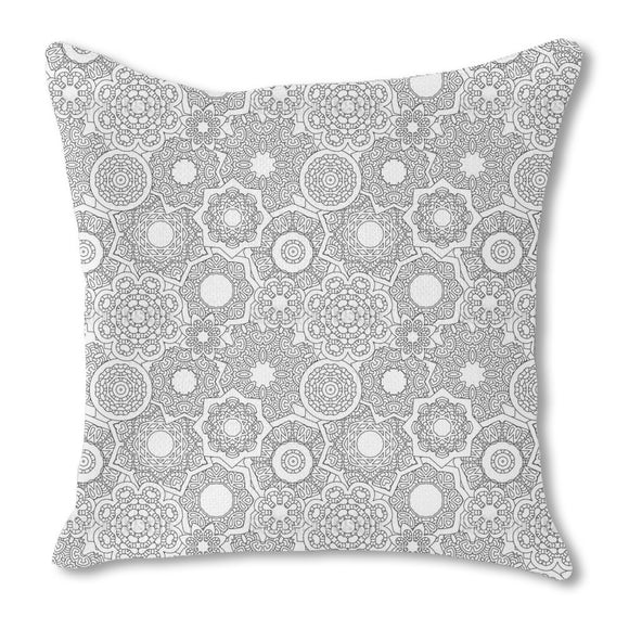 Pile Of Mandalas Burlap Pillow