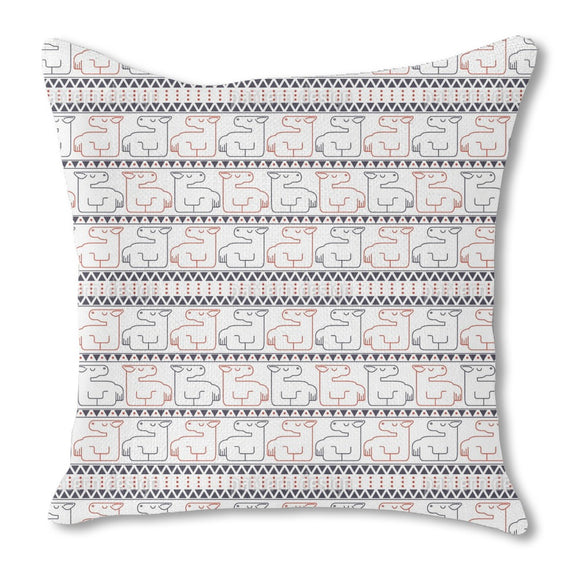 Lying Horses Burlap Pillow