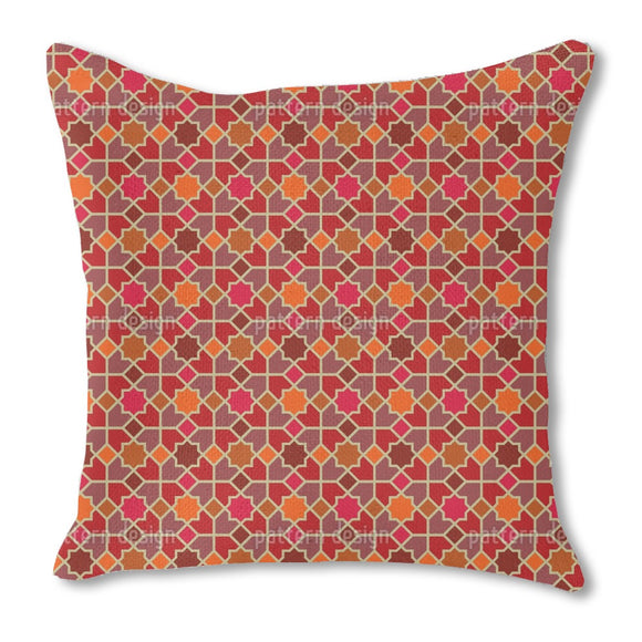 Morocco Red Burlap Pillow
