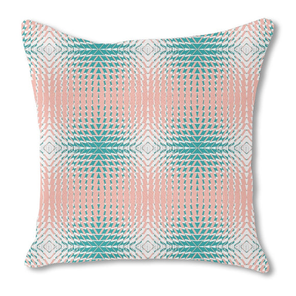Kaleidoscope Four Burlap Pillow
