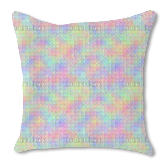 Rainbow Impressions Burlap Pillow