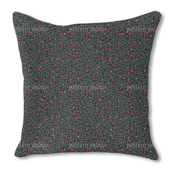 Rapunzels Garden At Night Time Burlap Pillow