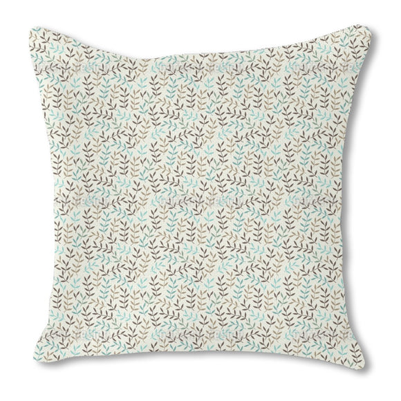 Leaves Bohemian In Winter Burlap Pillow
