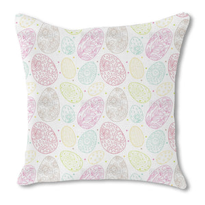 Delicate Easter Eggs Burlap Pillow