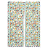 Retro Florals Bloom Curtains