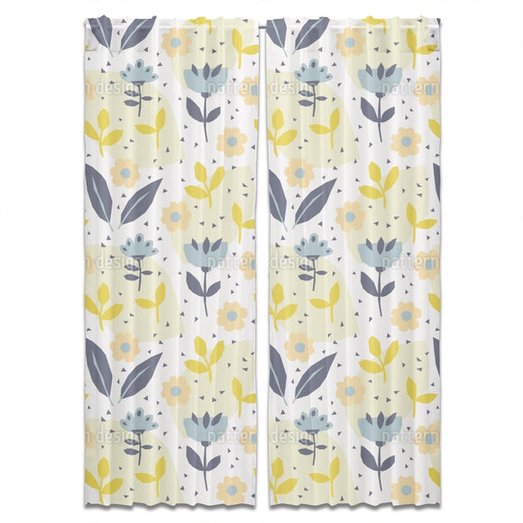 Paper Cut Flowers Curtains