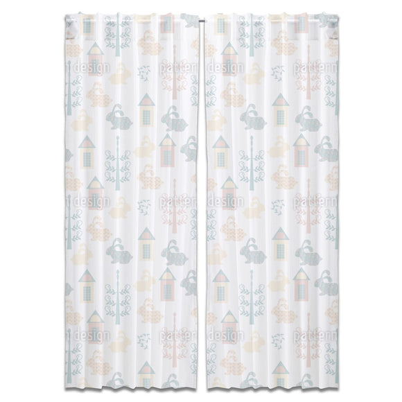 Bunny Town Curtains