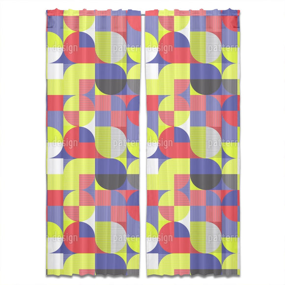 Bauhaus Geometrics Curtains