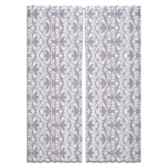 Ikat Floral Stripes Curtains
