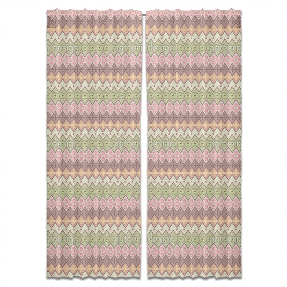 Scribbled Zigzag Curtains