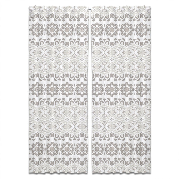 Meshed Flowers Curtains