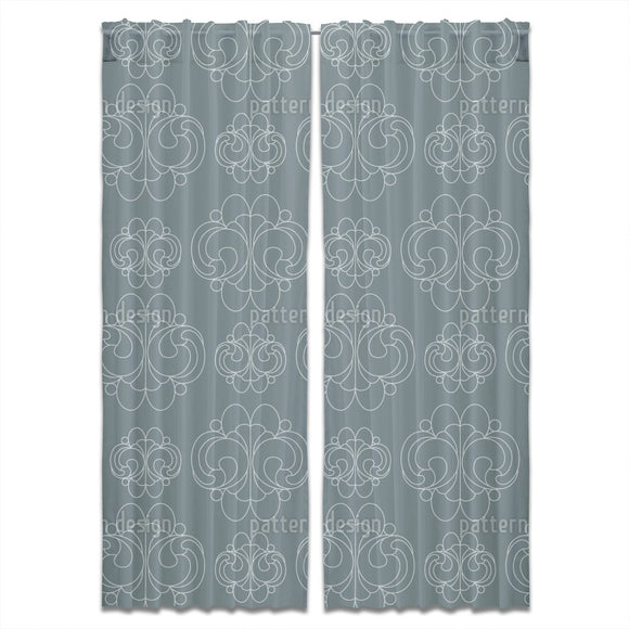 Rococo Shell Curtains