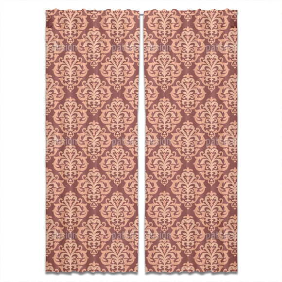 Tendril Damask Curtains