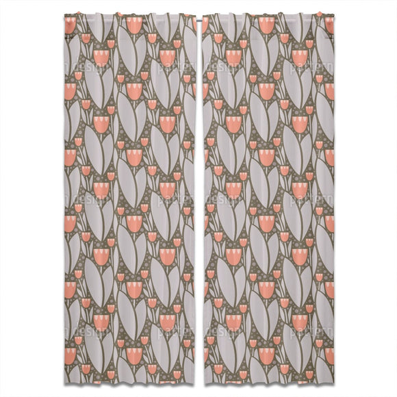 Modern Tulips Curtains