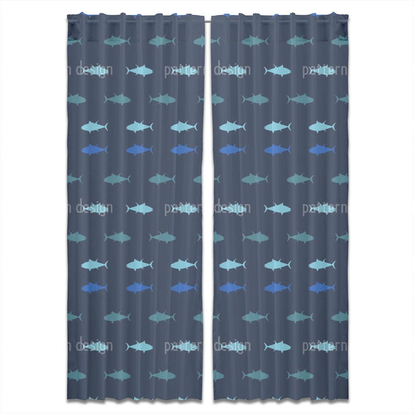 Nautical Tuna Curtains