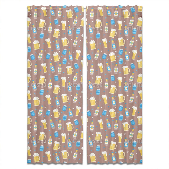 Octoberfest Beer Curtains
