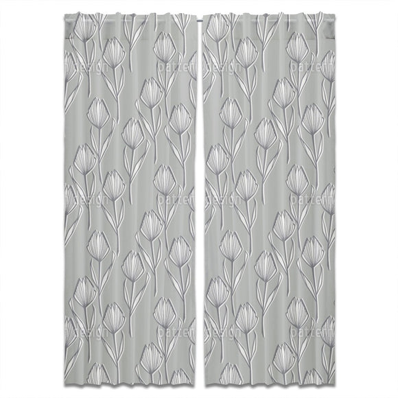 Monotone Tulip Curtains