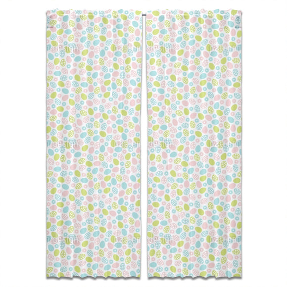 Flowers And Easter Eggs Curtains