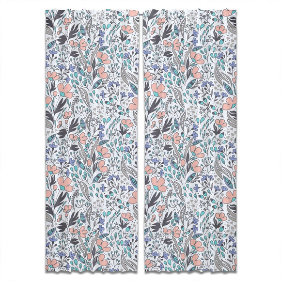 Floral Wind Curtains