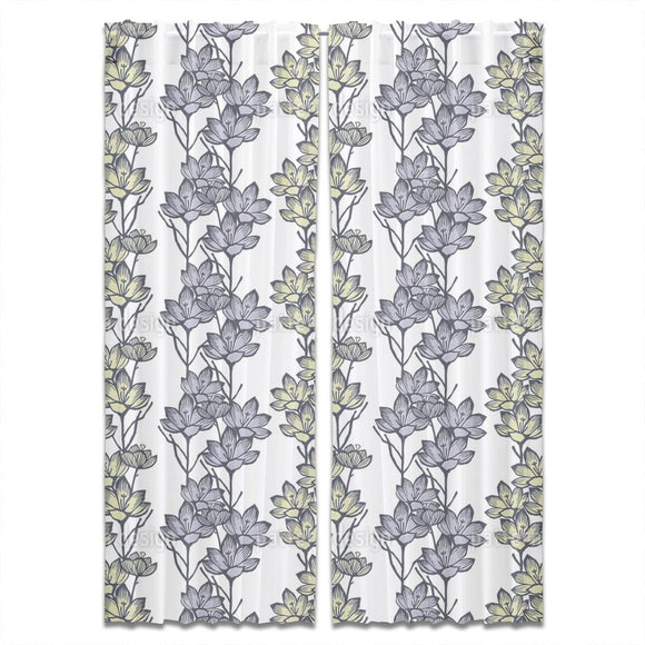 Crocus Flower Curtains