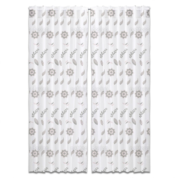 Floral Elements Curtains