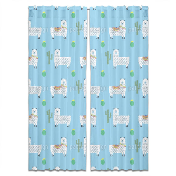 Cute Alpacas Curtains