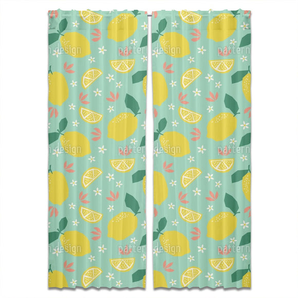 Lemons And Blossoms Curtains