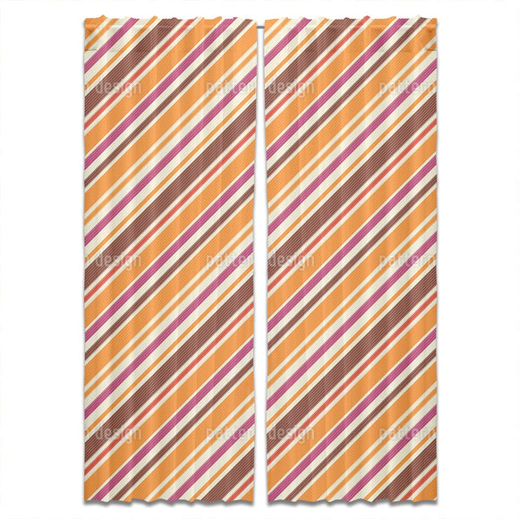 Seventies Stripes Curtains