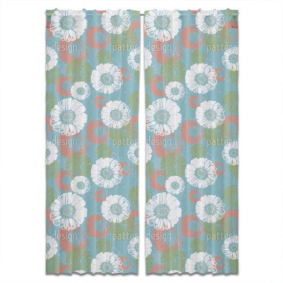Stamped Blossoms Curtains