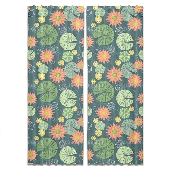 Lily Pad Pond Curtains
