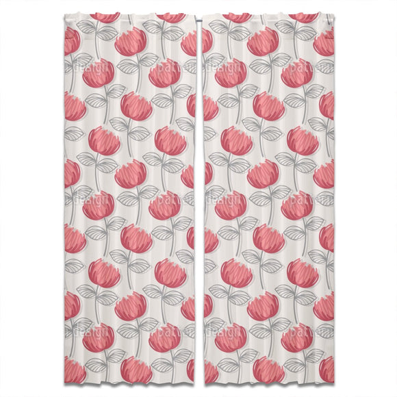 Ava Floral Curtains